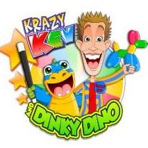Krazy Kev and Dinky Dino Clown