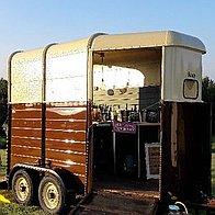 Henny's Vintage Caravan and Vintage Horsebox Mobile bar Afternoon Tea Catering