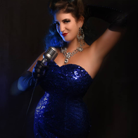 Foxi Blue Burlesque Dancer