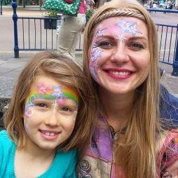 Dancing Firefly Facepainting - Children Entertainment , London, Dance Act , London,  Face Painter, London Dance show, London
