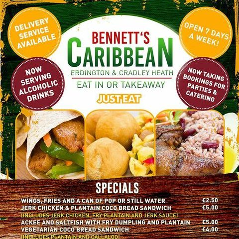 Bennetts Caribbean Business Lunch Catering