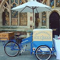 Chilly White Ice Cream Cart