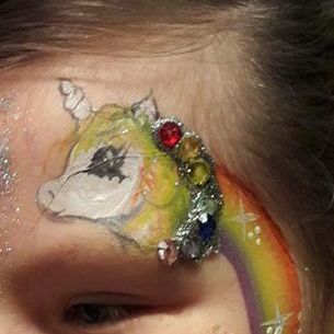 Beauty or the Beast face painting - Children Entertainment , Gainsborough,  Face Painter, Gainsborough