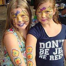 Children's Party Faces Children Entertainment