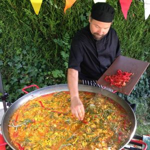 Paella Bear Dinner Party Catering