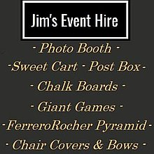 Jim's Event Hire - Kettering Sweets and Candies Cart