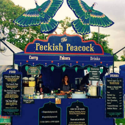 The Peckish Peacock, Festival caterer of the year 2018 Mobile Caterer
