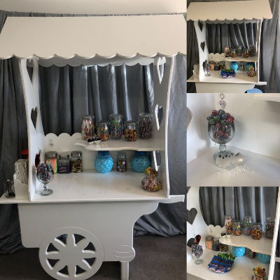 Personalised Party Supplies Sweets and Candies Cart