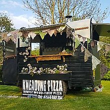 Kneading Pizza Food Van