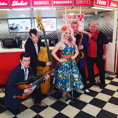 Ruby Rockabella & The Rockin' Robins Live music band