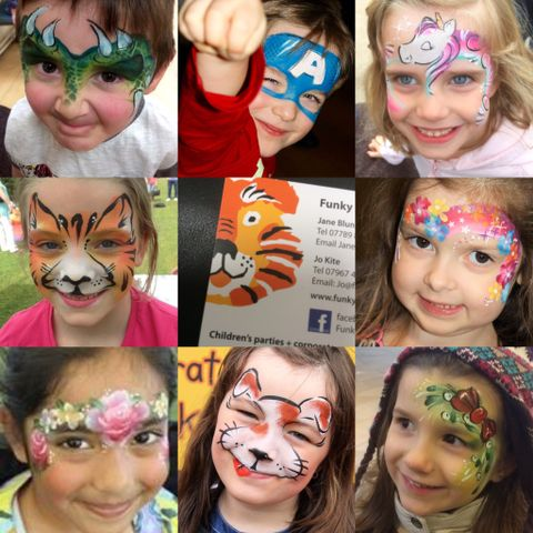 Funky Faces Face Painting - Children Entertainment , Worcester,  Face Painter, Worcester