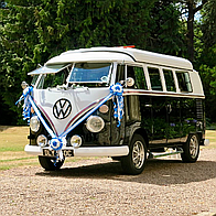 VW Black Betty Wedding Campervan Hire Transport