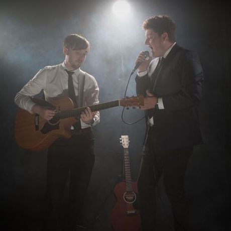Adam and Lawrence Wedding Singer