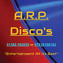 A.R.P. Discos & Silent Disco's. Projector and Screen