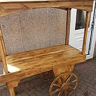 Rustic Delight Sweets and Candies Cart