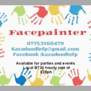 Kazadoodle FP - Children Entertainment , Downpatrick,  Face Painter, Downpatrick