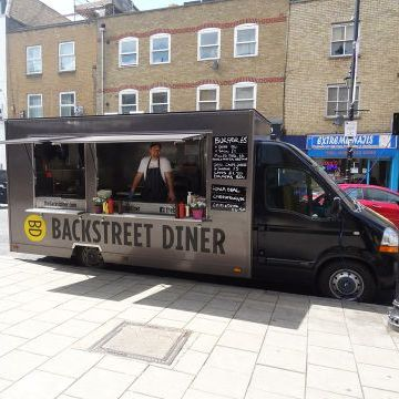 The Backstreet Diner - Catering , London,  Food Van, London Burger Van, London Mobile Caterer, London Street Food Catering, London