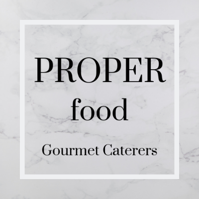 Proper Food Gourmet Caterers Wedding Catering