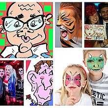 Derby Face And Body Painting Children Entertainment