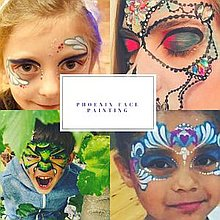 Phoenix Face Painting Face Painter