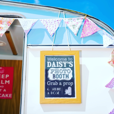 Daisy Vintage Caravan Photo Booth Portrait Photographer