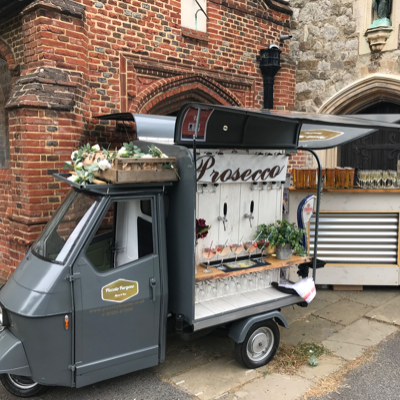 Piccolo Furgone Prosecco Van and Mobile Bars Mobile Bar