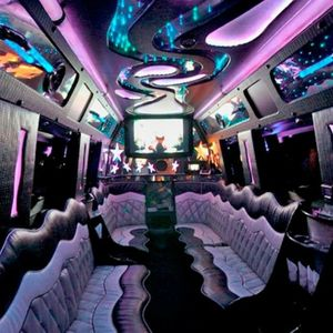 Pink Passenger - Transport , Cheshire,  Party Bus, Cheshire Chauffeur Driven Car, Cheshire Limousine, Cheshire