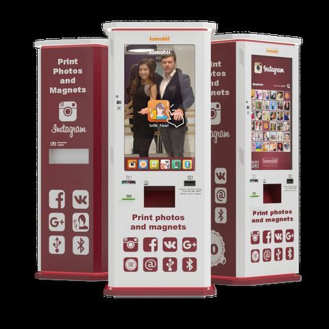 Lomobil - Innovative Photo booth - Kiosk of Instant Print on magnets and polaroids Event Photographer