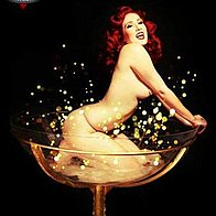 Ginger La Rouge Burlesque Dancer
