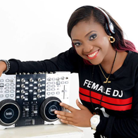 Female DJ Frizzie For Parties & Events Projector and Screen