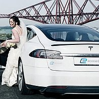 Ecosse EV - Tesla Chauffeuring and Weddings Chauffeur Driven Car