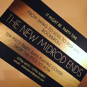 The New  Midrod Ends - Live music band , Glastonbury,  Function & Wedding Music Band, Glastonbury Soul & Motown Band, Glastonbury Swing Band, Glastonbury Funk band, Glastonbury Disco Band, Glastonbury R&B Band, Glastonbury