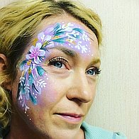 Painted Peacock Face & Glitter Painting Children Entertainment