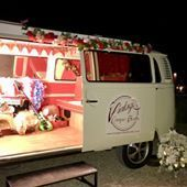 Vintage Camper Booths Sweets and Candy Cart