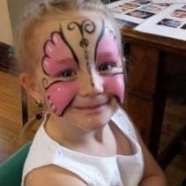 Purple Bee Face Painting - Children Entertainment , Coventry,  Face Painter, Coventry