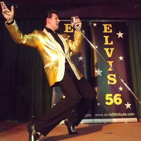 Elvis 56 Solo Show  or with  his own band The if I Can Dream Band 60s Band
