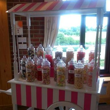 Pink and White Candy Cart - Catering , Croydon,  Sweets and Candy Cart, Croydon