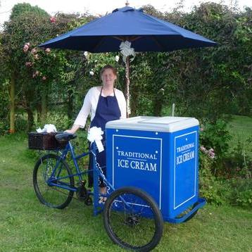 Traditional Ice Cream Tricycles - Catering , Fareham,  Ice Cream Cart, Fareham Crepes Van, Fareham