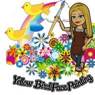 Yellow Bird Face Painting Children Entertainment