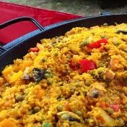 Paella sunset Hog Roast