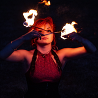 Betchulapendula Performing Fire Eater