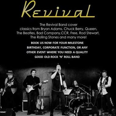 The Revival Band - Live music band , Cheshire,  70s Band, Cheshire Rock Band, Cheshire Rock And Roll Band, Cheshire