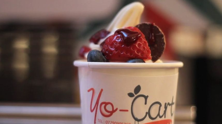yocart frozen yoghurt wedding catering swansea glamorgan