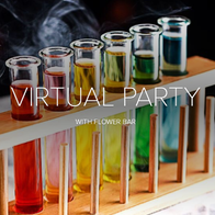 Virtual Party with Flower Bar Mobile Bar