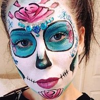 Black Cat Face and Body Art Face Painter