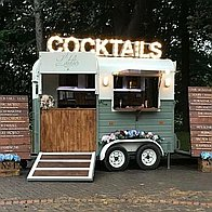 L'atelier Vintage Cocktail Box Mobile Bar