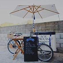 Icicle Tricycle Ice Cream Cart