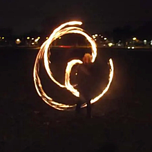 Spin4fun Nottingham fire Spinning Group Clown