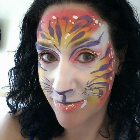 Neon Fairy Face Painting - Children Entertainment , Basingstoke,  Balloon Twister, Basingstoke Face Painter, Basingstoke