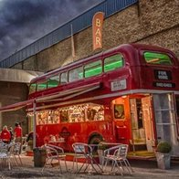 Big Red Bus Bar Mobile Bar